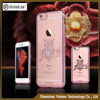 diamond phone case for iphone 6 mobile cover / custom soft clear tpu case