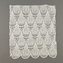 Factory Price White Curtains 3D Stretch Lace Trim