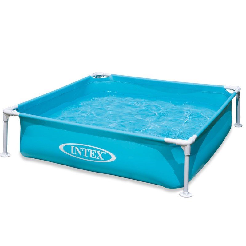 Wholesale INTEX 57173 Rectangle Kids Steel <strong>Blue</strong> Pool Mini Frame Children Swimming Pool