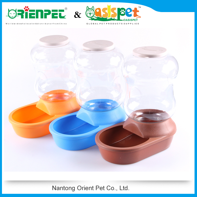 ORIENPET & OASISPET Pet plastic feeder automatic dog feeder PC/PP/TPR NT9280 Pet products