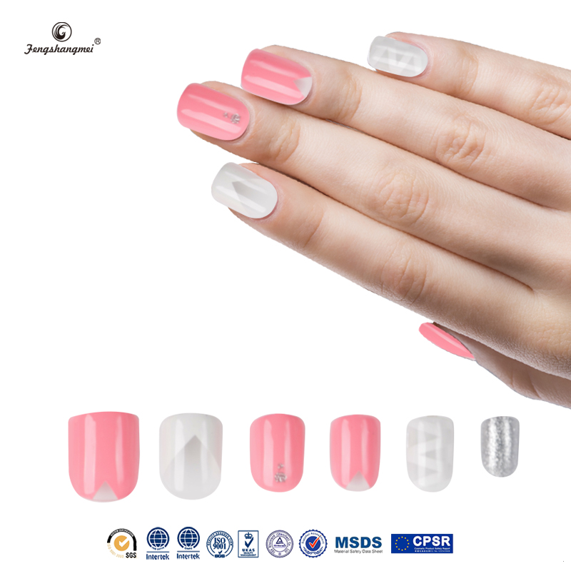 fengshangmei nail art fake nails high quality popular 2016 hot sell new package pretty nail tip designs