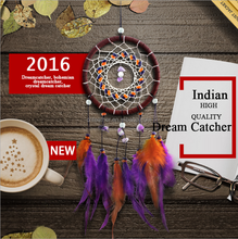 Elegant Cock feather Customized colorful dreamcatcher