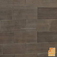 Hot Sale Natural Stone Polished Surface Rectangle Wall Cladding Brown Slate Tile