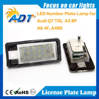 Two Years Warranty Number Plate Lamp For Audi Q7 TDI A3 8P A6 4F A4 B6 License Plate Lamp Car Accessories