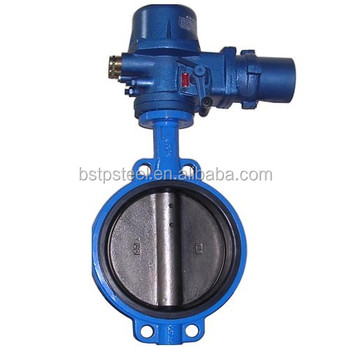 Wcb stainless steel actuator electric turbine butterfly valve ANSI DIN soft seal