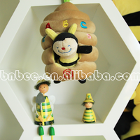 Wholesale soft plush electronic cartoon bee homing music box