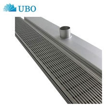 Stainless steel flat wedge wire welding sieve screen panel for ground leakage