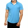 Mens Polyester sky blue Dry Fit sports T shirts Tops