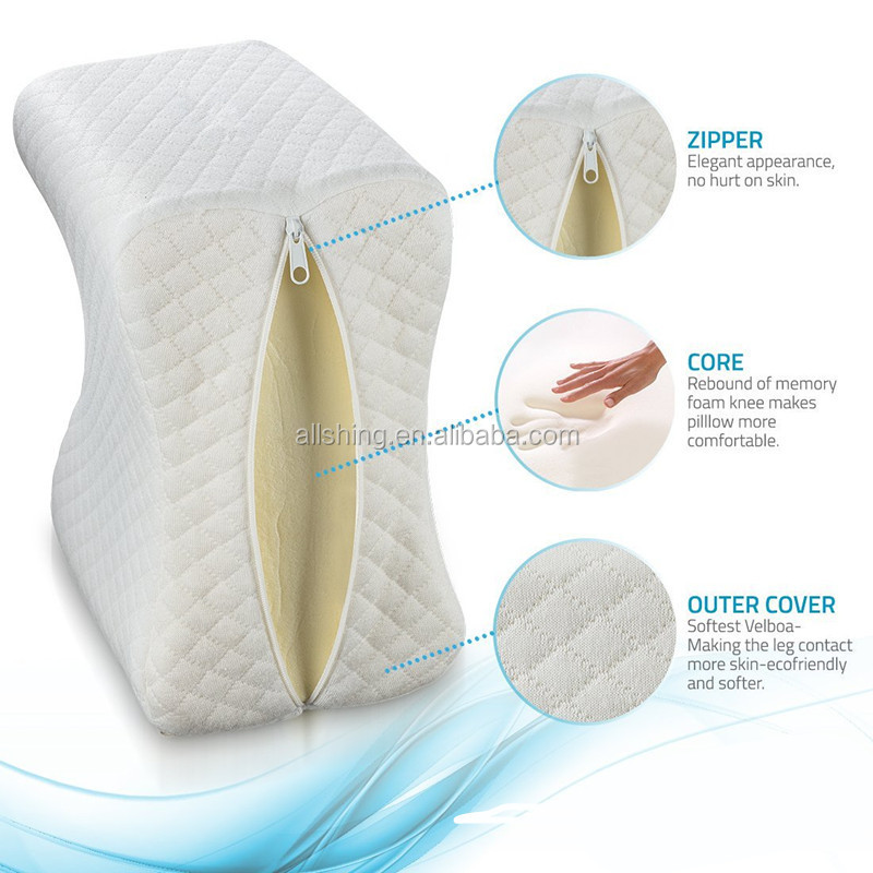 Wholesale Orthopedic Memory Foam Knee Pillow For Sciatic  , Pregnancy - memory Foam Wedge With Breathable Cover