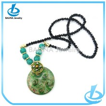 Aftican Turquoise Fashion Disk Circle Necklace