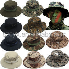 Outdoor activities Military Fishing Bucket Cap Camping Hiking Wide Brim Camouflage Sun Hat