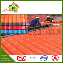 ASA corrugated spanish roof tile sheet sun proof fire proof and water proof
