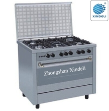 heavy duty model Gas range oven with 5 burners