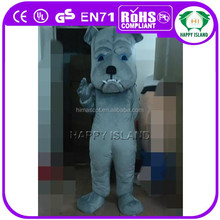 HI OEM/plush material/head with cooling fan puppy mascot for adult
