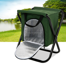 Manufacturers selling ice bag folding beach chair stool outdoor fishing stool cooler bag chair