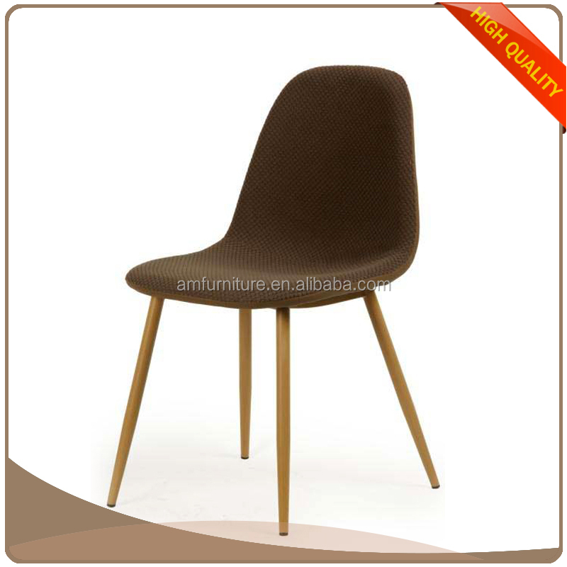 Luxurious fabric modern accent dining side chair with for Colorful leather dining chairs