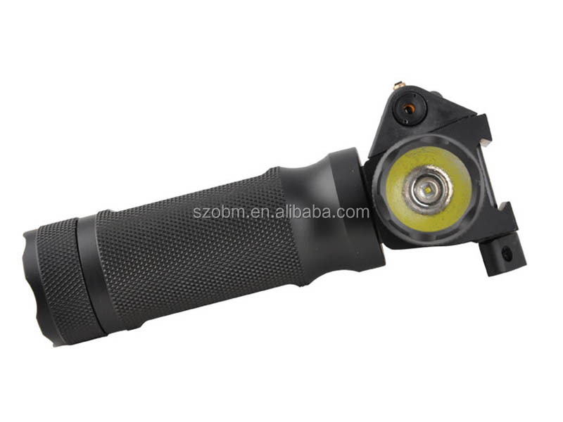 Tactical Hunting Crees Q5 LED Flashlight 3 Mode LED Handgun Flashlight 5mm Red Laser Flashlight