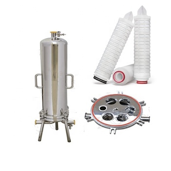 0.2 micron Industrial oil cartridge filter housing system for coconut oil processing filtration machine
