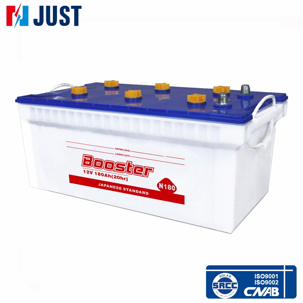 Most popular 12v 180ah dry rechargeable storage battery N180