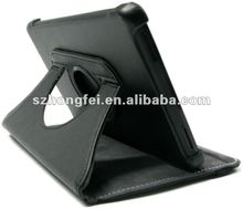 Brief design 360 degree rotary smart leather case for ipad3