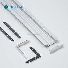Floor Mount aluminum Channel profile for led cabinet lighting with milky PC cover