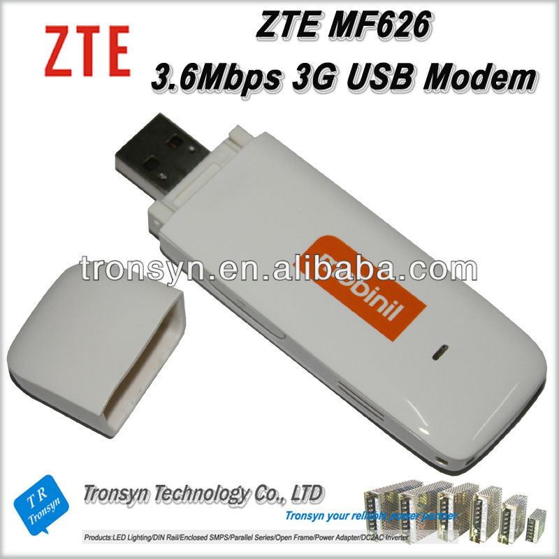 Original ZTE MF626 ZTE 3g modem router 7.2Mbps HSDPA Wireless Data Card
