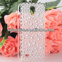 Bling Diamond Pearl White Hard Back Cases Cover For Samsung Galax S4 i9500