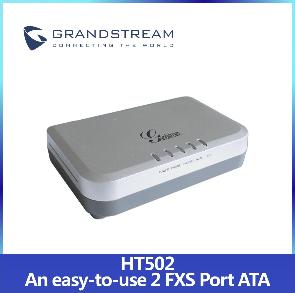 Cheap Grandstream HT502 Analog telephone Adapter(ATA) VoIP Gateway