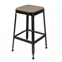Barstool supplier PU Bar Stool chair with solid rubber wood legs