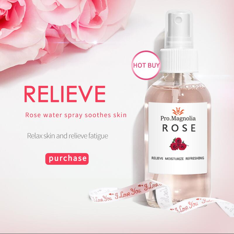 Privte Label 100% Pure Rose Water Whitening and moisturizing Hydrating Facial Toner