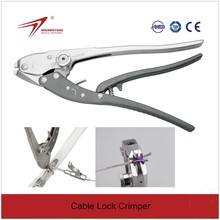 Orthopedic surgical instruments for Cable Lock Crimper for cerclage wire