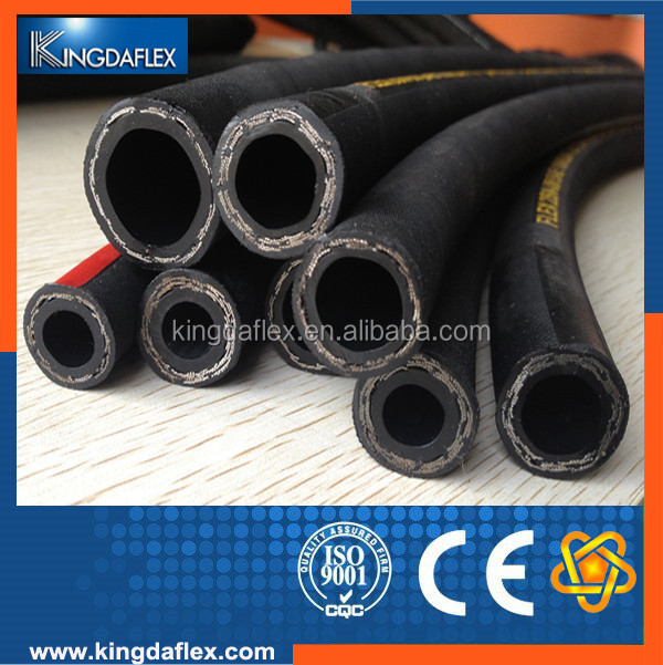 High quality SAE and DIN standards high pressure oil resistant 1sn hydraulic rubber hose for power steering