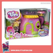 Flower fairy toy figure play set