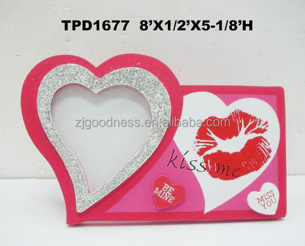 personalized valentines day picture frame kiss me be mine miss you - Miss You Picture Frames