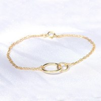 Exotic boho style gold plated with kama charm chain anklet