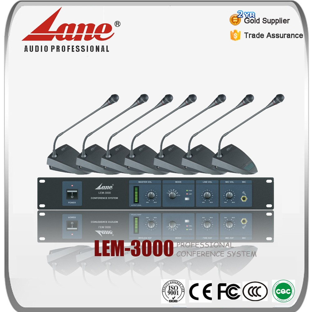 Lane professional video microphone wireless conference system LEM-3000