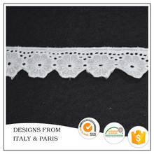 Wholesale 3cm Embroidered Lace Trim for Garments