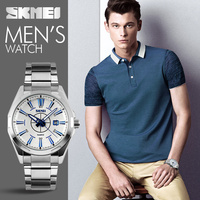 Latest western watches silver men quartz wrist watch with luxury design