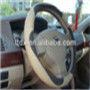 new style fashionable interior accessories grey real leather car steering wheel covers from factory
