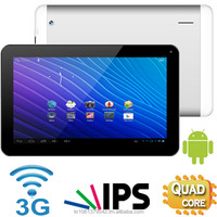 10.1 inch 3G Tablet PC with GPS, Quad Core, HD IPS, 8GB + 1GB, Dual Camera(Front + Back), Bluetooth, FM