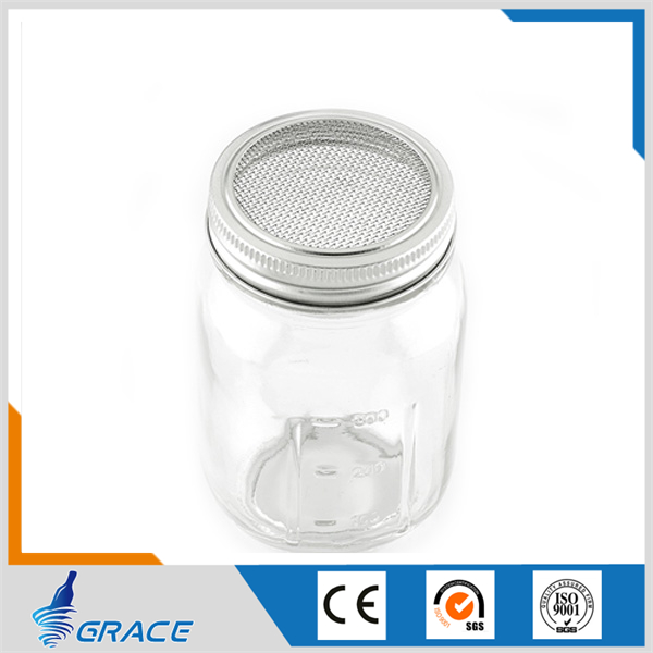 wholesale empty glass mason jar with sprouting lid