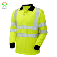 2016 wholesale yellow reflective safety polo shirt
