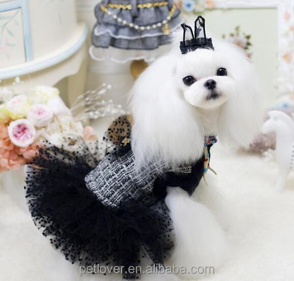 The Pretty cute dog dress fashion evening dress