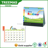 2016 Calendar design /creative desk calendar designs andexecutive desk calendar with rainbow picture alibaba china supplier