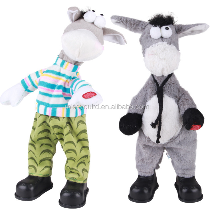 Dancing & Singing Donkey Plush Animal Toy for Kid & Children