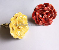 Decorative Ceramic Hand Crafted Floral Knobs For Kitchen Cabinets and Drawers