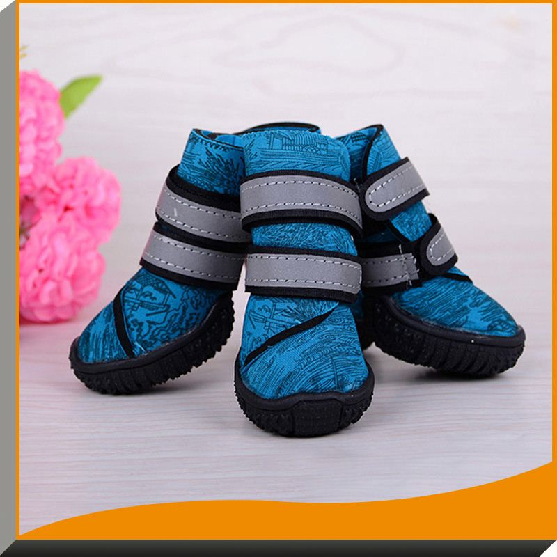 2016 New 4pcs/set Small Medium Large Shoes Spring Autumn Winter Big Pet Outdoor Boots Warm Non-Slip Shoes For dogs
