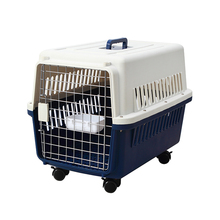 Luxury Collapsible Rolling Plastic Dog Pet Cages Dog Travel Carriers Houses