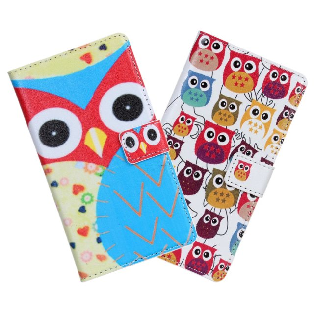 Owl Wallet Leather Case Cover for huawei ascend g700