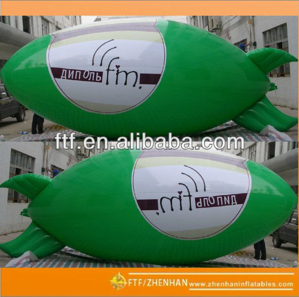 Outdoor advertising helium blimp